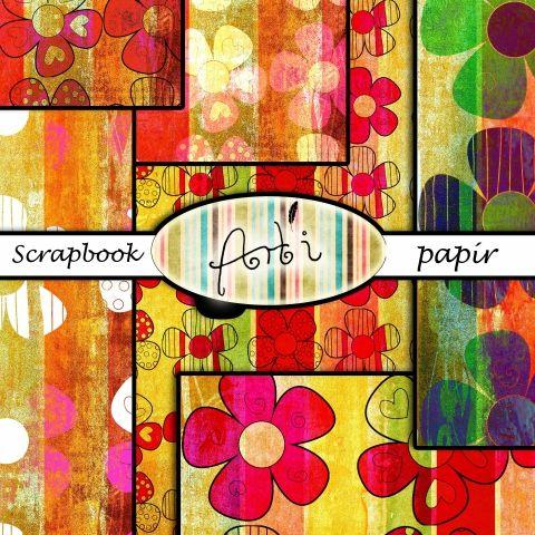 """NYOMTATHATÓ digitális scrapbook """"papír"""", Képeslap, album, füzet, Képeslap, levélpapír, Fotóalbum, Meska"""