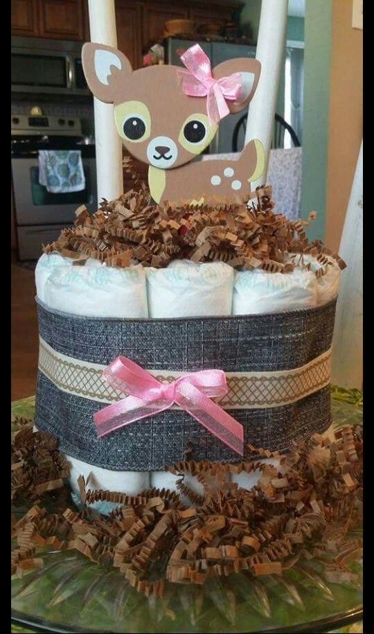 Baby deer diaper cake