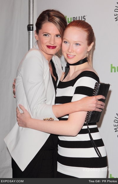 Stana Katic and Molly Quinn {Castle tv series actress