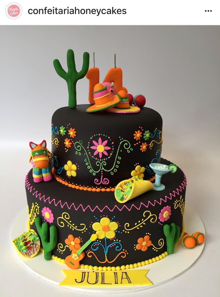 M 233 Xico Frida Kahlo Cakes In 2019 Mexican Fiesta Cake