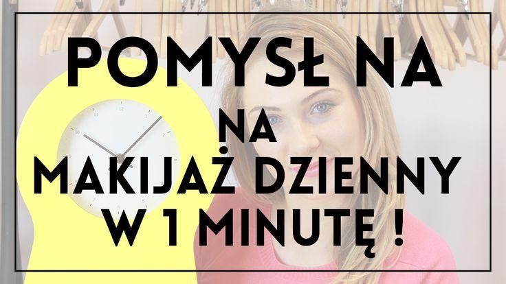 Makijaż codzienny w minutę? To możliwe! Zobacz jak robi to Kasia, a potem zrób to sama i ciesz się pięknym make-upem przez resztę dnia! :)  różowa bluzka: http://dmdi.pl/1TMijpv bransoletki: http://dmdi.pl/1N42qZZ różowe szpilki: http://dmdi.pl/1qJHePw