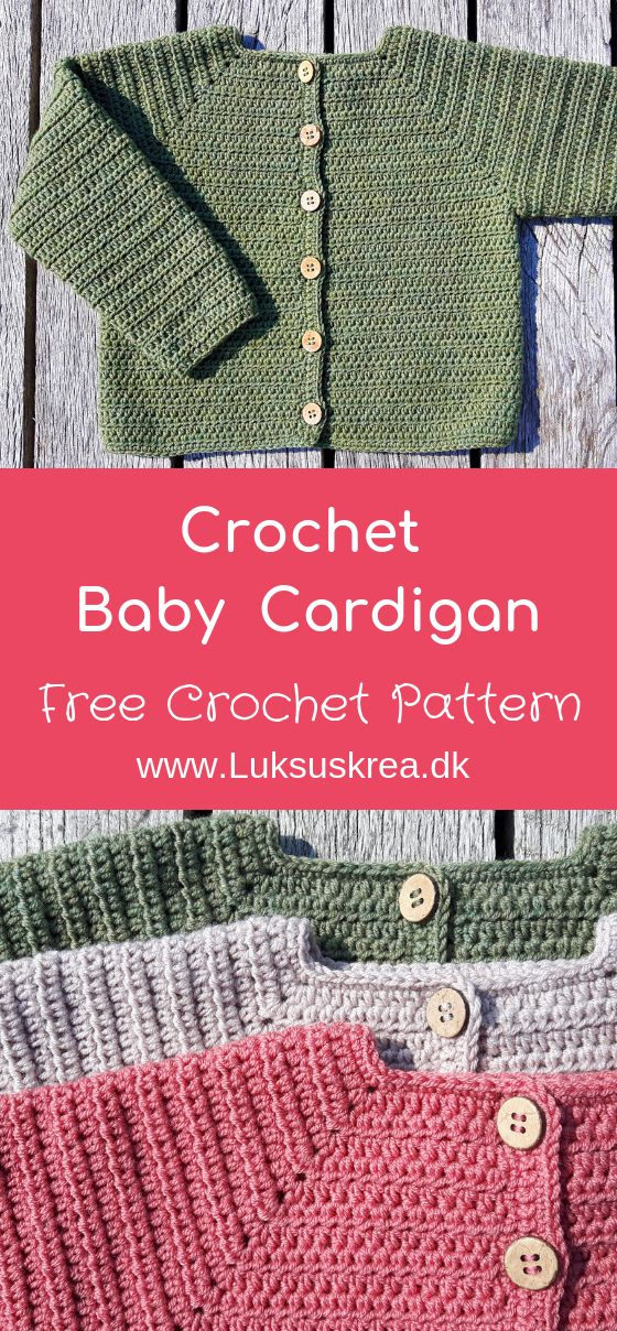 Baby Strickjacke   – Crochet and knitting babyvestjes en truitjes