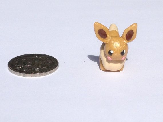 Polymer clay Eevee figurine by PolymerParrot on Etsy