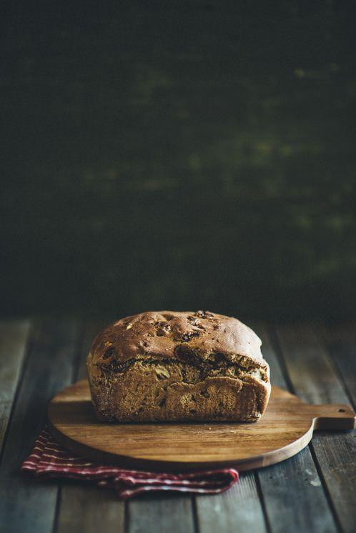 Pão caseiro de figo e nozes | Fig and Walnut Bread