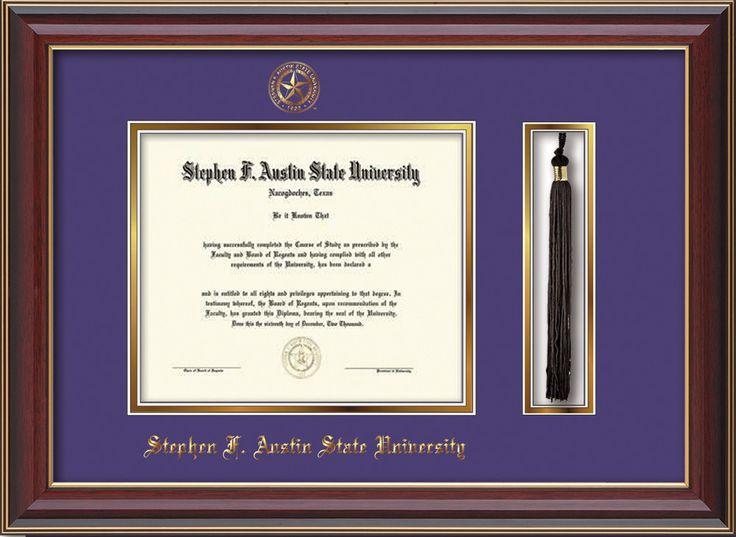 Stephen F. Austin Diploma Frame - C Lacquer - Tassel - Purple/Gold – Professional Framing Company