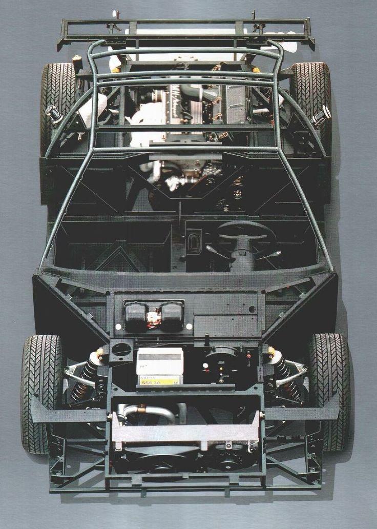 BMW M1 chassis; designed by Lamborghini