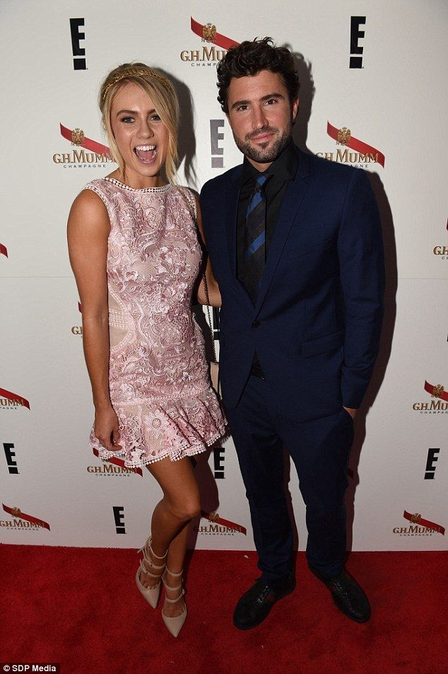 In the spirit: Brody Jenner's glowing tan was a stark contrast to the gloomy weather of th...