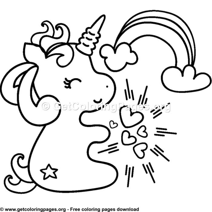 106 Cute Cartoon Baby Unicorn Coloring Pages Unicorn ...