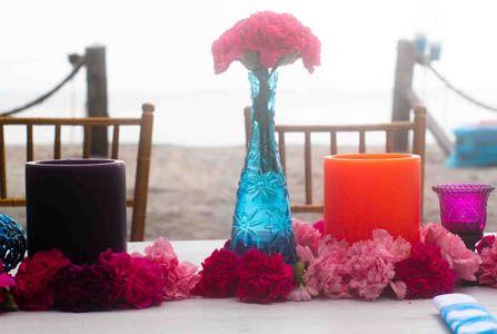 Mesa Decoración Velones de colores Santa Marta