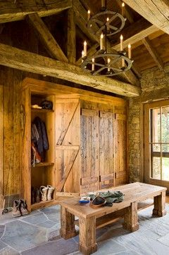 Rustic mudroom, Great Point Lodge, On Site Management.