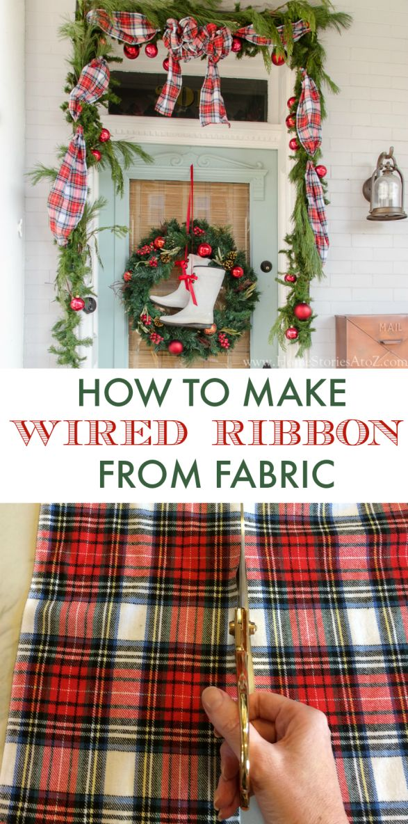 How to make wired ribbon from ANY fabric! Such a great tip.