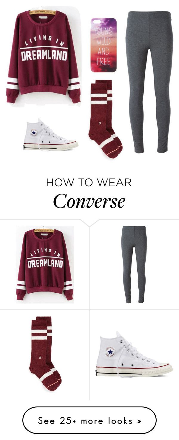 """""""No school tomorrow!"""" by psych-rocks on Polyvore featuring Converse, Stance and Ermanno Scervino"""