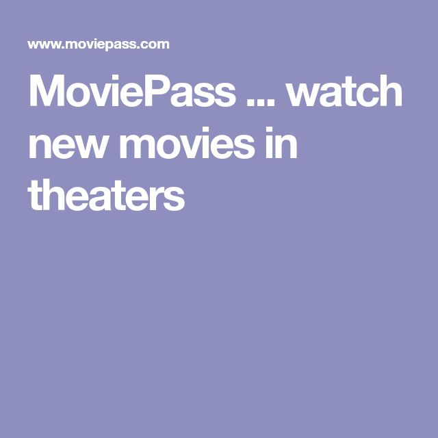MoviePass ... watch new movies in theaters with one monthly fee. Any movie, any theater, any day. Unlimited streaming of Fandor's library of 5,000 movies ............................ #DIY #internet #movies #frugal #money #savings #MoviePass