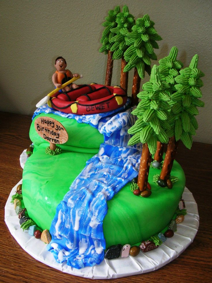 Canoe Birthday Cake