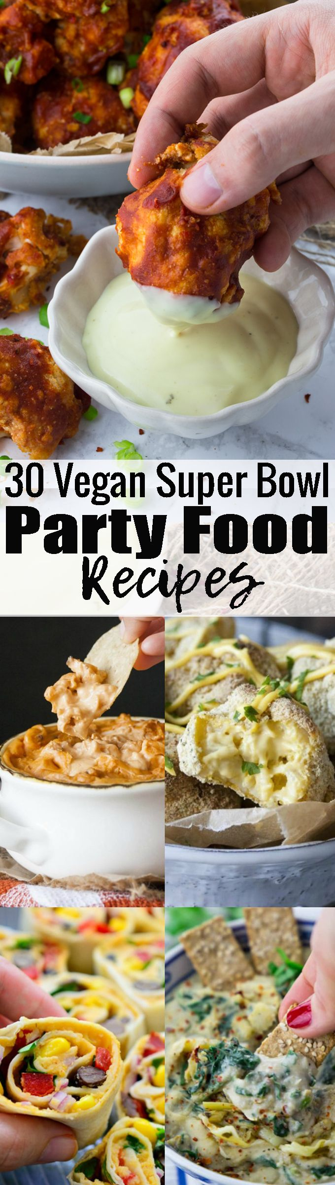 If you're looking for vegan party food recipes for the super bowl, this collection of 30 awesome party recipes is perfect for you!!
