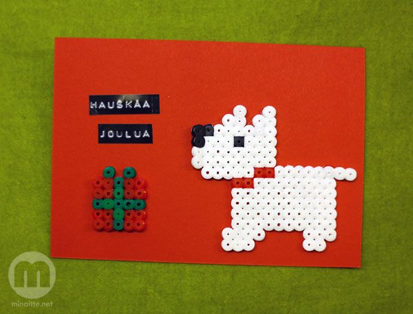 Hama bead Christmas cards by minaitte.net