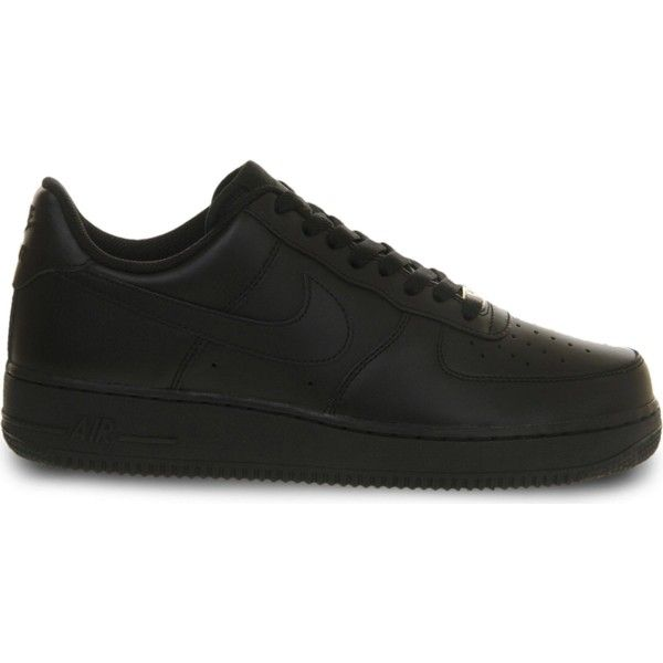 NIKE Air force one low top trainers ($93) ❤ liked on Polyvore featuring men's