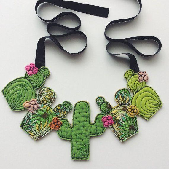 Cactus succulent neckpiece