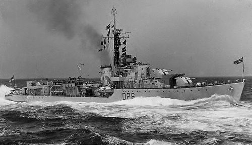 HMS Comet (D26) was a C-class destroyer of the British Royal Navy! circa.1951.(wikipedia.image) #3B