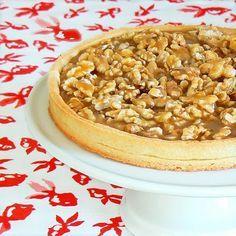 Tarte aux noix & au caramel au beurre salé Un petit délice aux saveurs de Guérande <3