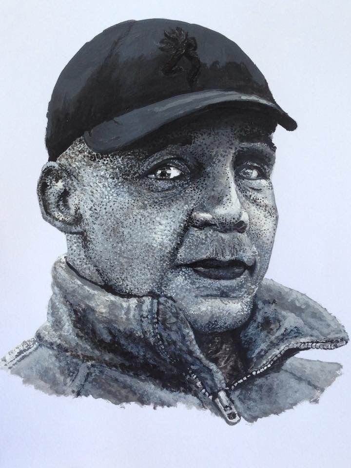 Finished acrylic portrait. #art #traditionalart #painting #actionartstudio #realism #acrilic #man #blackandwhite #clasick