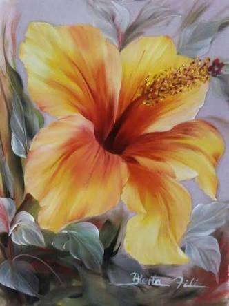 Resultado de imagem para pintura hibisco