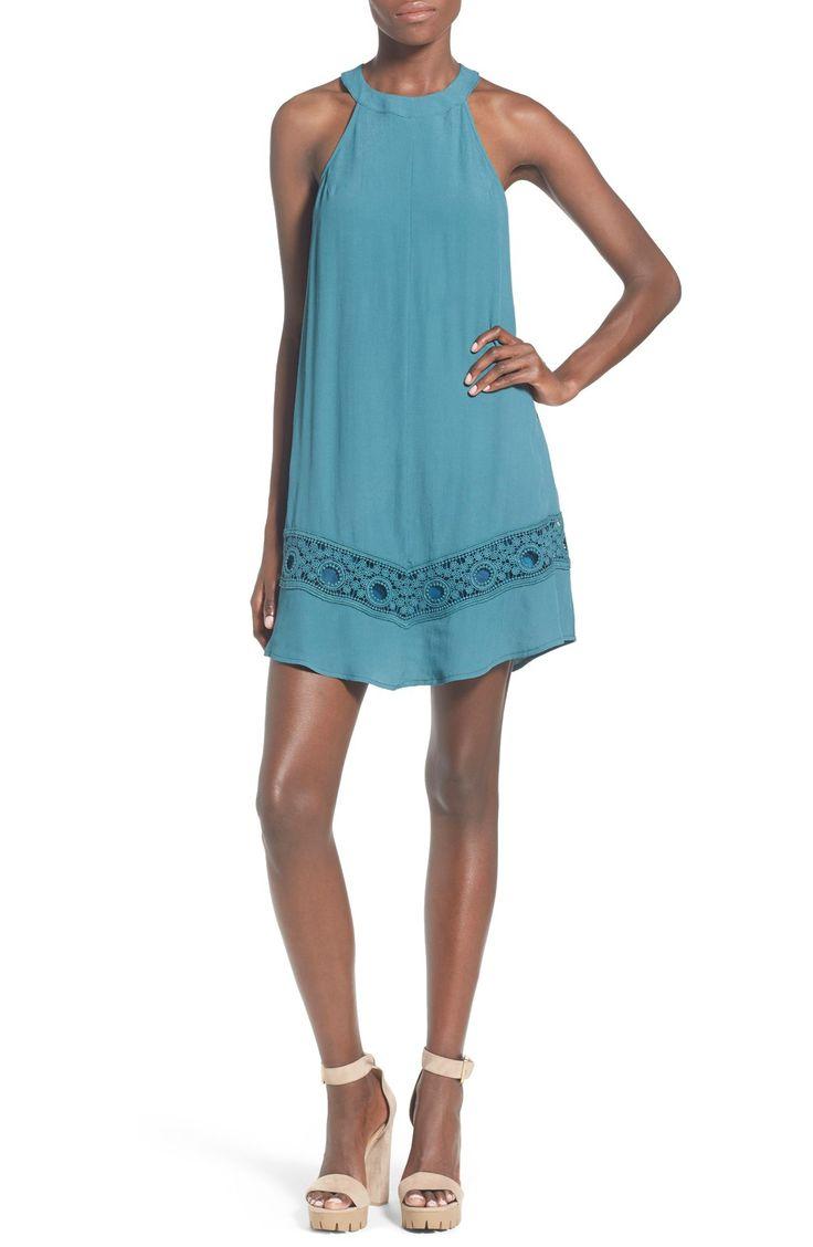 Yoana baraschi celestial garden lace dress nordstrom rack - Astr Crochet Inset Shift Dress