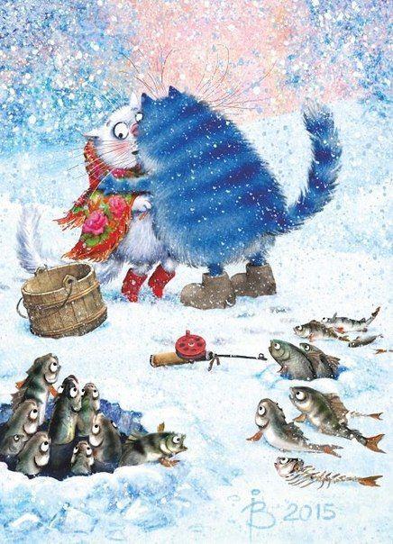 Сияние, и воздух дивный Пронизан милым волшебством... Настрой какой-то позитивный, Глазами встретилась с котом -  Он шел по снегу, вдохновленный, Тащил букет зеленых роз, Был в праздники такой влюбленный, Как вездесущий Дед Мороз!  О да, сегодня же банкеты! Рой поздравлений, звонкий смех, Стихи, подарки и букеты, День упоительных утех!  Вас поздравляю с новой вехой На добром солнечном пути! Побольше радости и смеха, Что потеряли, то найти,  Счастливых лиц и добрых шуток, Удачных встреч и…