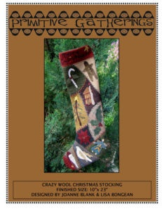 crazy quilt stocking: Crazy Quilt, Bongean Primitive Gatherings, Folk Art, Wool Projects, Quilts Primitive Gatherings, Lisa Bongean Primitive, Quilt Stocking, Wool Quilts Primitive