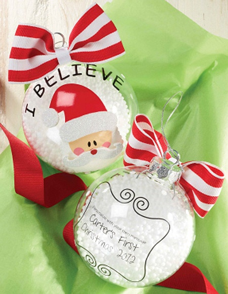 "Mud Pie ""I Believe"" Santa Christmas Ornament"