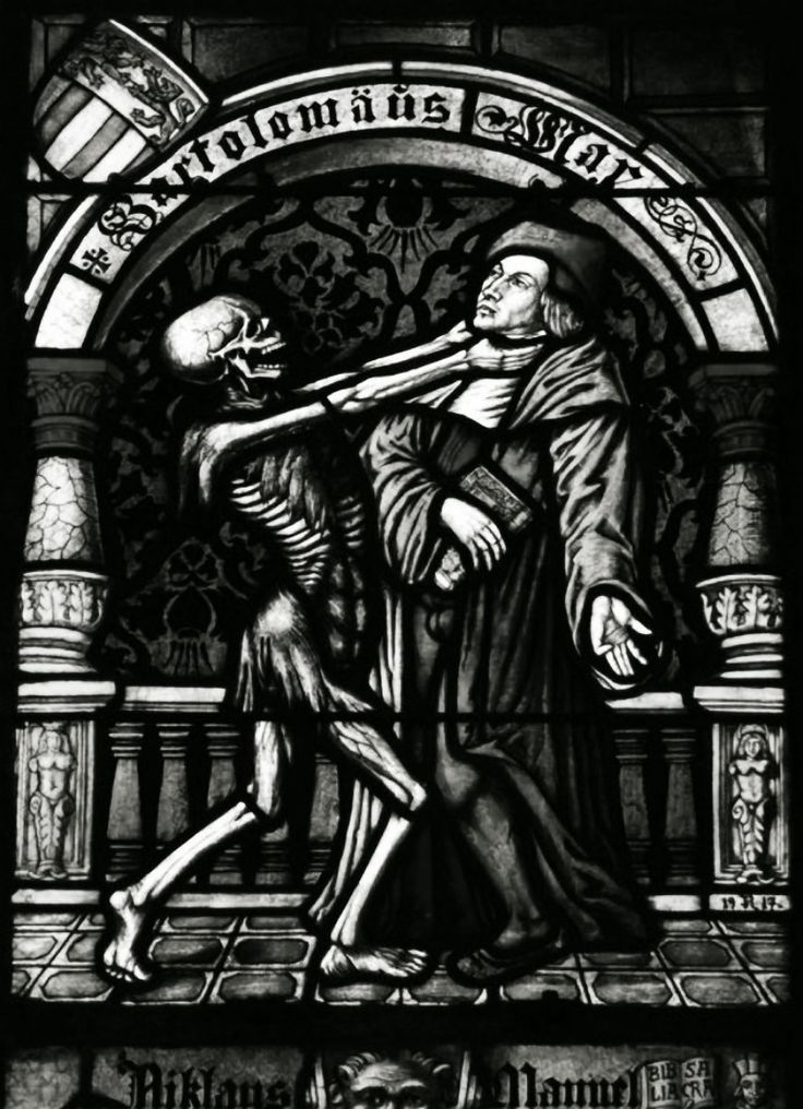 The Creepatorium Medieval stained glass, Dance of death