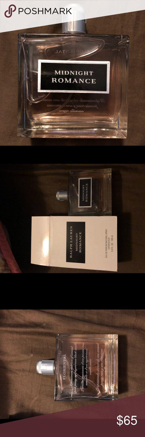 Ralph Lauren MIDNIGHT ROMANCE Eau de Parfum Authentic perfume, never used.  3.4 Fl ounces  Smells super good; pink peony and blank vanilla Ralph Lauren Other
