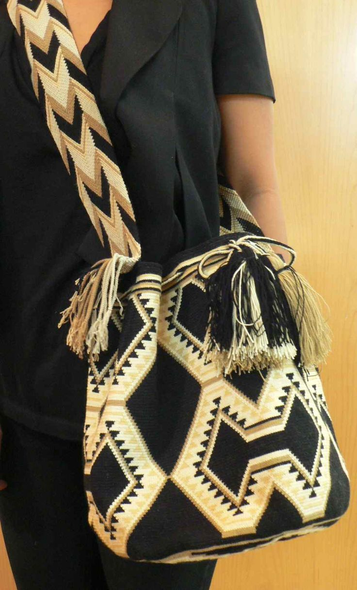 Authentic Wayuu Mochila Bag from the Northern region of Colombia. -www.acrossthepuddle.com/jewelry/handbags