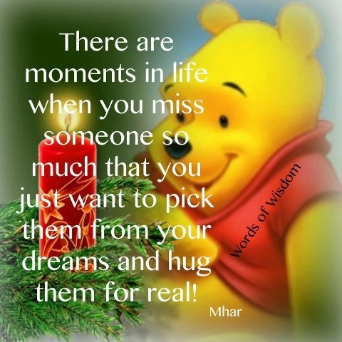 I miss you mijo! but  I am happy that you are ok in heaven.