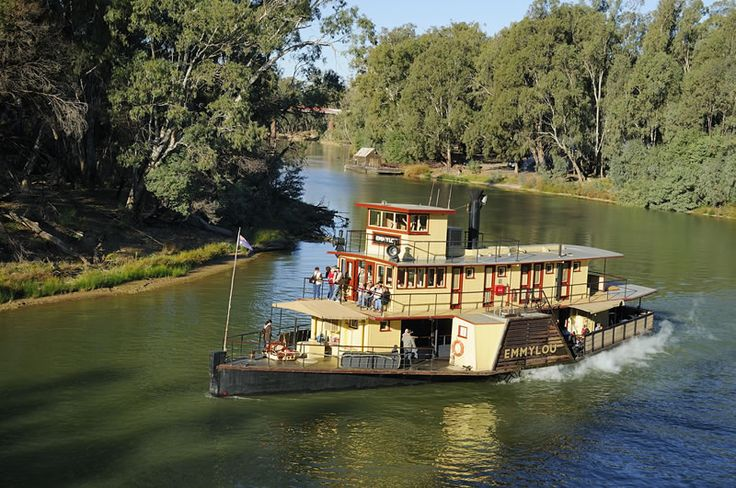 Echuca, Australia.  The Emmylou steamboat.