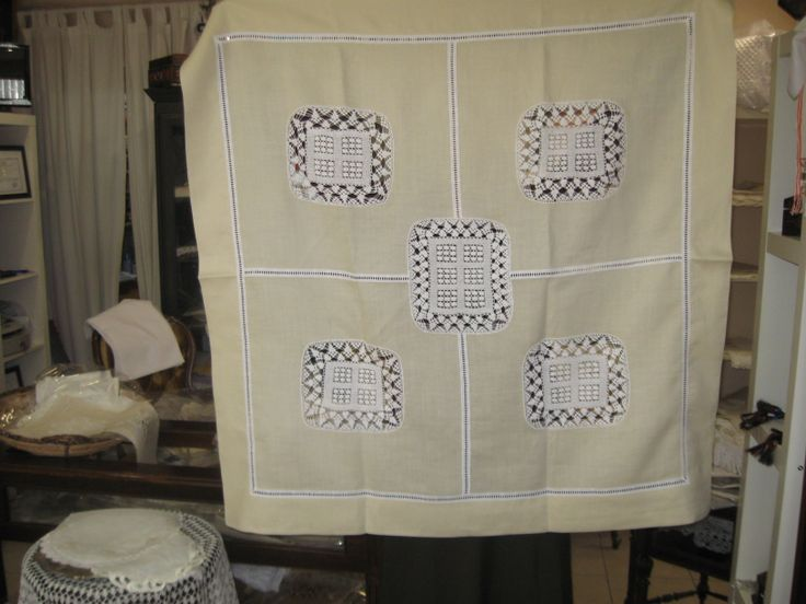 linen & lacework & patchwork design tablecloth