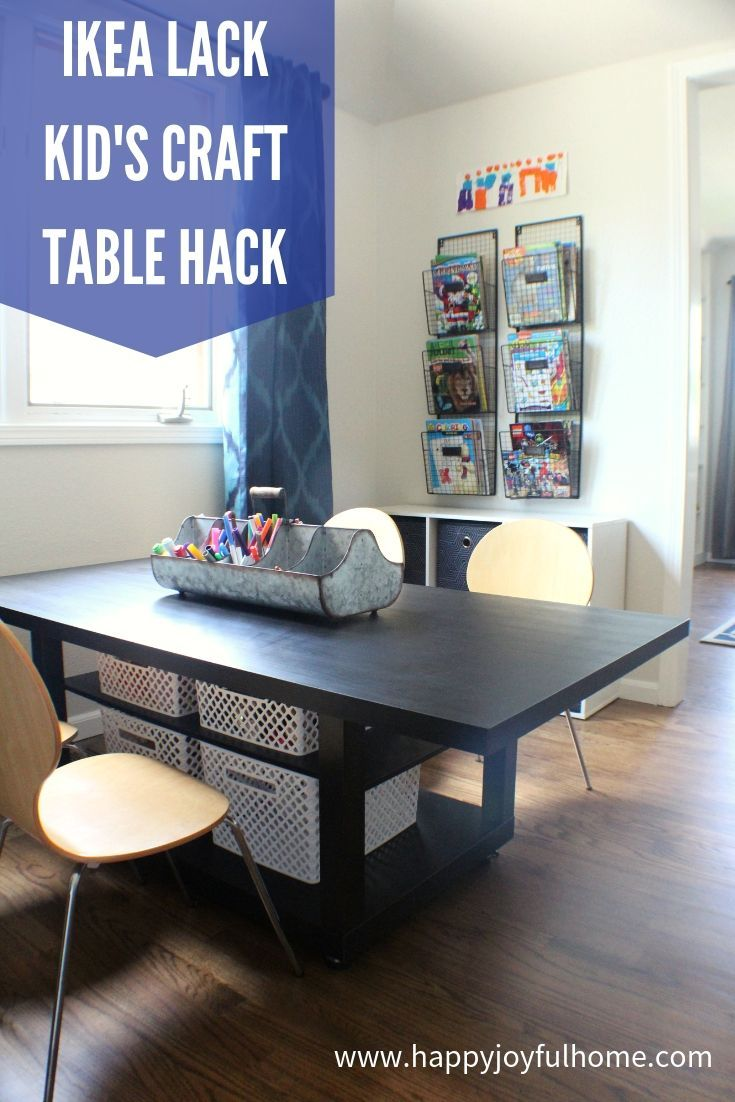Diy Ikea Lack Table Hack To Make A Kid S Craft And Activity Table With Storage For Under 70 Ikeahack Kid Kids Craft Tables Ikea Lack Coffee Table Ikea Lack [ 1102 x 735 Pixel ]