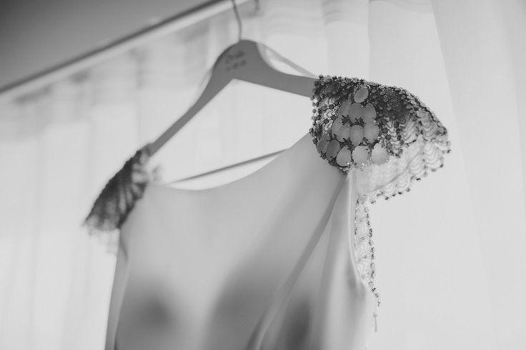 Beautiful detailing on Jackies wedding dress.