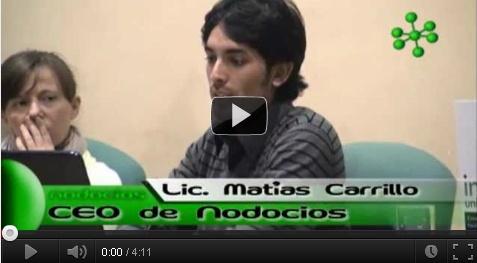Martes 7 de junio de 2011 se realizó la primera presentación en público del proyecto Nodocios, en el ciclo de capacitación del Programa Incubadora Universitaria de Empresas, en la Facultad de Ciencias Económicas y Estadística. La misma se presentó ante más de 180 jóvenes emprendedores de la ciudad de Rosario