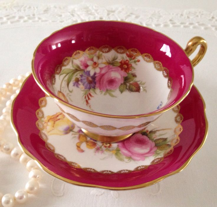 EB Foley China Tea Cup & Saucer by NicerThanNewVintage on Etsy https://www.etsy.com/listing/201360888/eb-foley-china-tea-cup-saucer