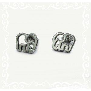 Hermosos aritos elefantes Acero quirúrgico hipoalergénico, ideal para nuestras hijas.