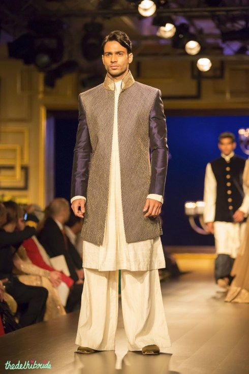 For men - Deep aubergine sherwani kurta by Manish Malhotra at India Couture Week 2014 #ICW2014 See the rest of the collection at http://thedelhibride.com/2014/08/06/manish-malhotra-india-couture-week-2014/