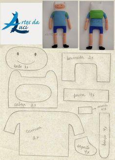 Artes da Luci: moldes Jack e Finn
