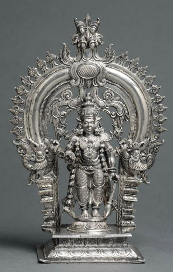 Vishnu made of silver from Kerala