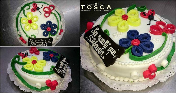 Tort - flori