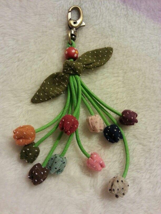 cute flower key chain