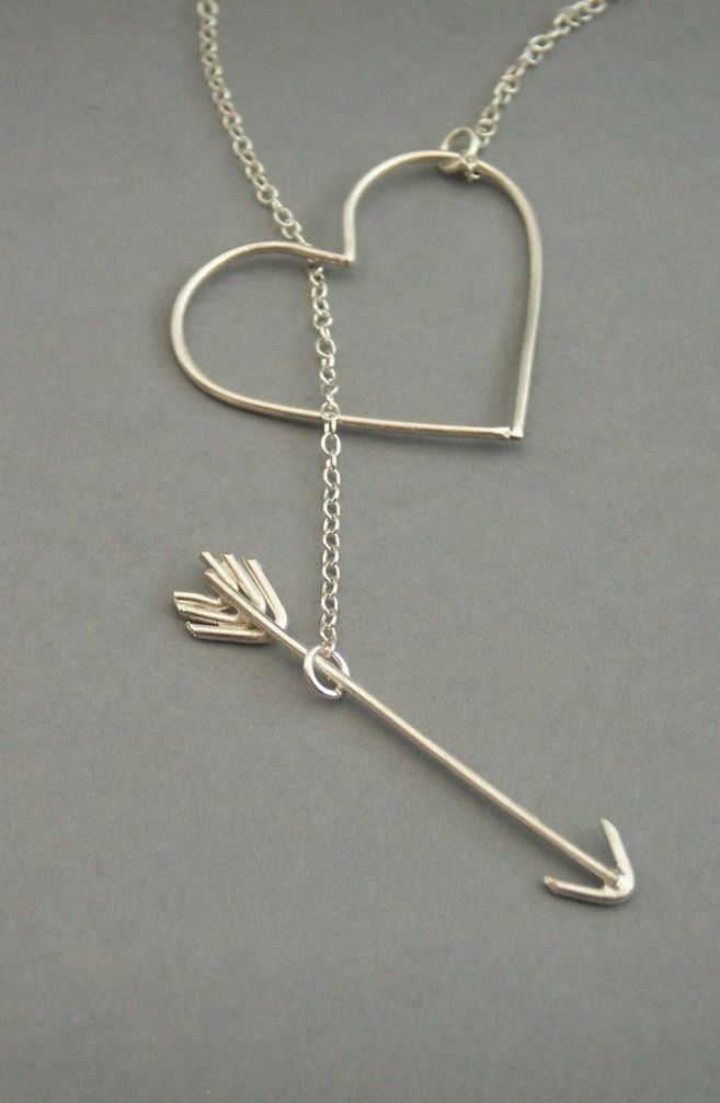 heart and arrow necklace arrow necklace arrows and heart. Black Bedroom Furniture Sets. Home Design Ideas