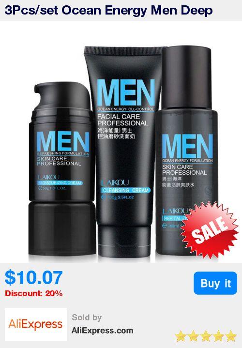 3Pcs/set Ocean Energy Men Deep Cleansing Moisturizing Hydrating Oil Control Acne Blackhead Face Care Exfoliating Skin Care * Pub Date: 21:06 Dec 27 2017 http://beautifulclearskin.net/ http://beautifulclearskin.net/
