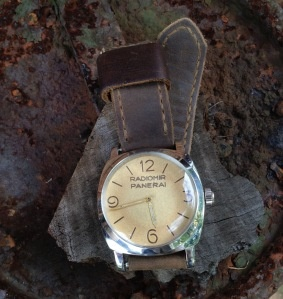 Vintage Panerai Radiomir 6154 on Bas and Lokes handmade leather watch strapFashion Style
