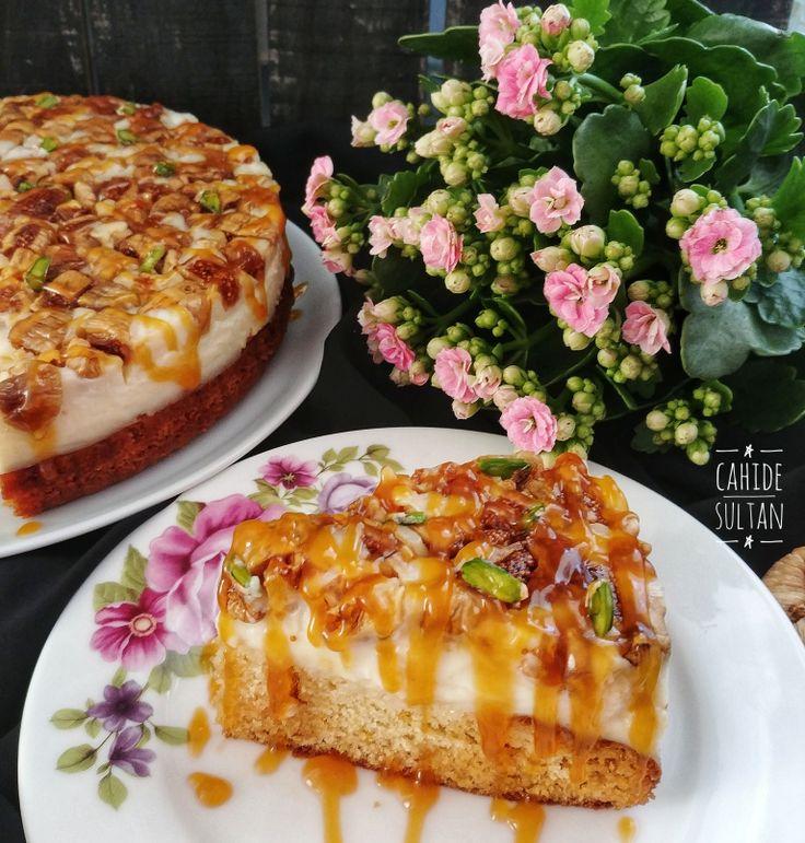 Tadı damağınızda kalacak muhteşem bir pasta! İncirli Karamelli pasta